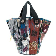 石井和代「ウールのファスナーいっぱいバッグ」