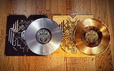 Great Gatsby limited records deluxe edition  silver and gold LP