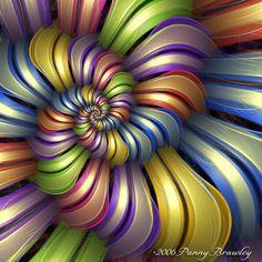 40 Mesmerizing Fractal Art Pictures for Art Lovers - Fractal Images, Fractal Art, Zentangle, Fractal Design, Art Abstrait, Over The Rainbow, Op Art, Sacred Geometry, Fractal Geometry