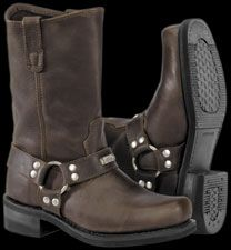0cd46675e1b River Road Men s Traditional Square Toe Brown Harness Boot Motorcycle  Riding Boots