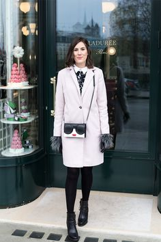 In this post you will find a selection of black dresses for the holiday season. Find out more about the black dress I am currently wearing. Winter Pastels, Holiday Dresses, Seasons, Coat, How To Wear, Jackets, Black, Fashion, Xmas Dresses