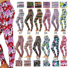 New Fashion Women's Pattern Print Stretch Leggings Tights Pants Summer 12 Styles Girls In Leggings, Tight Leggings, New Fashion, Fashion Outfits, Womens Fashion, Pattern Print, Print Patterns, Good Stretches, Printed Leggings