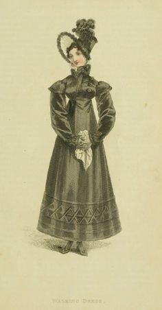 1817. Траурное платье для прогулок.