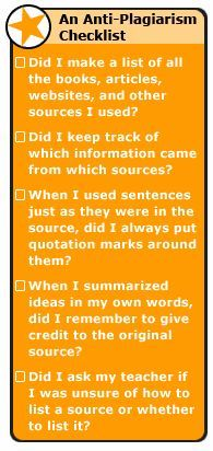 Make this a checklist/contract for students so there is an added layer of seriousness.