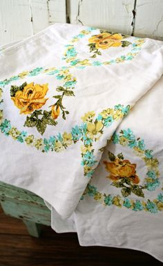 too many is not enough #vintage #tablecloth #home