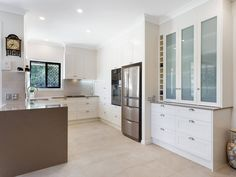 Verto Kitchens   Burleigh Waters. Traditional kitchen with added built-in for extra storage. Quality Kitchens, Bespoke Kitchens, Traditional Kitchen, Extra Storage, Gold Coast, Luxury, Building, Water, Furniture