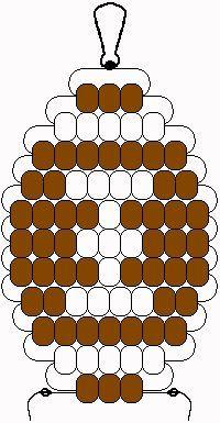 pony bead patterns   ... lanyard hook or keyring 50 brown pony beads 23 white pony beads
