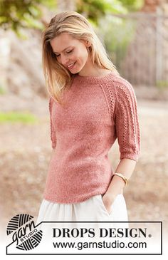 Ravelry: Evening Glow pattern by DROPS design Knitting Machine Patterns, Sweater Knitting Patterns, Knitting Designs, Knit Patterns, Free Knitting, Knitting Projects, Drops Design, Cardigan Au Crochet, Knit Crochet