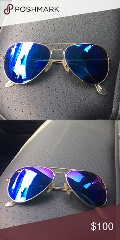 Rayban blue flash sunglasses Blue flash sunnies will come with case Ray-Ban Accessories Sunglasses