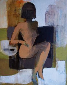 coffee2 (Painting), 60x50 cm by Victoria Cozmolici women,