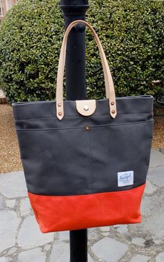 Waxed Canvas Tote Bag