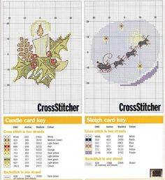 candle and father Christmas with reindeer silouette Xmas Cross Stitch, Cross Stitch Christmas Ornaments, Cross Stitch Cards, Beaded Cross Stitch, Cross Stitch Baby, Cross Stitch Kits, Christmas Cross, Cross Stitch Designs, Cross Stitching
