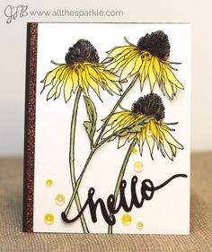 Card using Tim Holtz Flower Garden Stamp set. - Google Search More