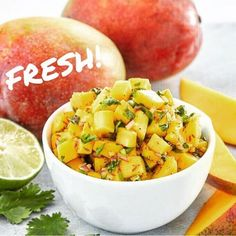 Word has it that mangoes are on sale at a few grocers in Victoria, what a perfect time to whip up some delicious mango salsa. My Favorite Food, Favorite Recipes, Mango Salsa, Spice Mixes, Spice Things Up, Sweet Potato, Potato Salad, Make It Simple, Spicy