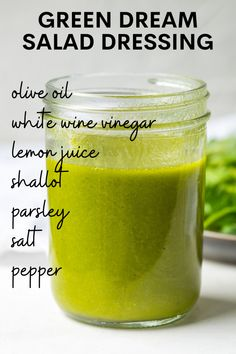 This Green Dream Dressing is a lemon herb vinaigrette. It is easy to make, loaded with flavor, and is the perfect dressing for any salad. Olive Oil Store, Great Recipes, Dinner Recipes, Whole 30 Lunch, Recipe Generator, Lemon Herb, Paleo Whole 30, Kitchen Recipes, Original Recipe