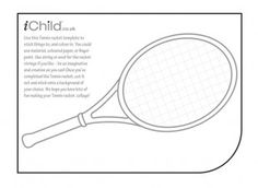 Create a tennis collage ready for Wimbledon this summer! iChild.co.uk