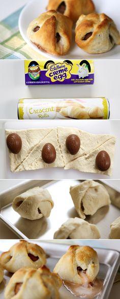 Cadbury Egg Croissants?!! Step 1: procure GF croissant dough. Step 2: eat.