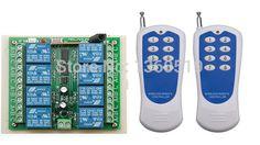 Hot Sales DC 12V 10A 8 CH 8CH 315/433 Mhz Wireless RF Remote Control Switch 2pcs Transmitter+ 1pcs Receiver #Affiliate