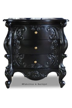 Fabulous and Baroque — Night's Dream Side Table - Black on Wanelo