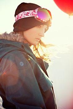 e4fd8457fce  Hana Beaman in VonZipper Chakra Snow Goggles Hana