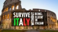 Survive Italy Without Being Fluent in Italian by Manu Venditti | Udemy In this introductory course you will learn several tricks to jumpstart your Italian and to speed up your learning.   Did you know that you could immediately and almost effortlessly learn 50% of the Italian vocabulary?   Did you know that you can master Italian pronunciation in just a few hours?   Did you know that you could be speaking in long, complex sentences in just a few weeks?