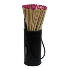 Great presentation for fire organisation Black Steel Matches Holder With Matches