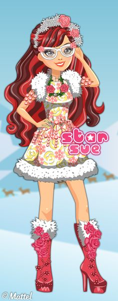 Ever After High Epic Winter Rosabella Beauty Dress Up Game : http://www.starsue.net/game/Epic-Winter-Rosabella-Beauty.html Have Fun! ♥