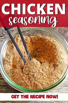 Made with spices and herbs from your pantry, this easy chicken seasoning creates juicy, tender meat bursting with flavor. If you are grilling, baking or roasting chicken, this seasoning is perfect for a whole chicken, breasts, wings or thighs. Homemade Dry Mixes, Homemade Spice Blends, Homemade Spices, Homemade Seasonings, Spice Mixes, Easy Chicken Seasoning, Chicken Spices, Seasoning Mixes, Chicken Recipes