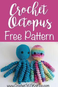 Super Cute Crochet Octopus Free Pattern