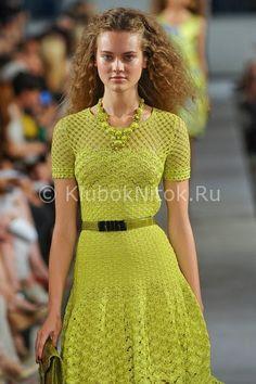 Платье с подиума   Вязание для женщин   Вязание спицами и крючком. Схемы вязания.