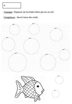 tracer des ronds en petite section The Ocean, Senses Preschool, Daycare Themes, French Course, Ps Plus, French Worksheets, French Education, English Games, Rainbow Fish