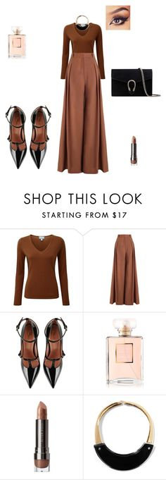 """""""Bez naslova #151"""" by selmamehinovic112 ❤ liked on Polyvore featuring Pure Collection, Zimmermann, RED Valentino, LORAC, Marni and Gucci"""