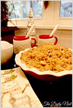 ... Nest: Mike's Favorite Dutch Apple Pie With Oatmeal Streusel Topping