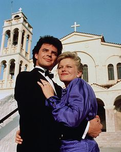 Adrienne and Justin on Days of our Lives / on location in Greece. Miss The Old Days, Those Were The Days, Soap Opera Stars, Soap Stars, Life Cast, Abbott And Costello, Bold And The Beautiful, Beautiful Couple, Old Time Radio