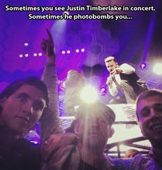Justin Timberlake never misses a good opportunity…