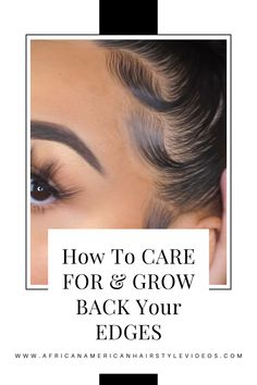 Grow beautiful edges to show off Prom Hairstyles, Braided Hairstyles, Grow Edges, Natural Hair Types, Knot Bun, Looking Gorgeous, Beautiful, Hair Laid, African American Hairstyles