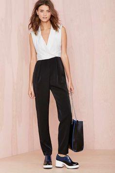 Fancy Pants Tux Jumpsuit | Shop Rompers + Jumpsuits at Nasty Gal