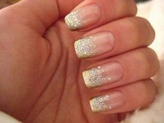 Gold to silver glitter gradient.