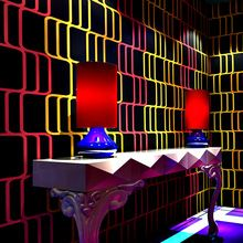 Modern Style Stereo Irregular lines Wallpaper Roll for Wall Bar KTV Dance Hall Room Decor High Quality Non-woven Wall Paper