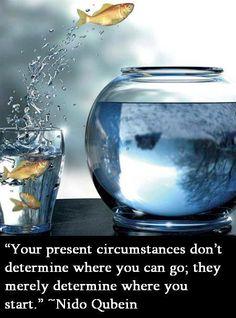 現在の状況はあなたの未来を決定するのではなく、あなたがどこから始めるかを示しているだけなのです。