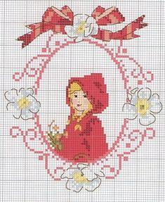 little red riding hood cross stitch chart Cross Stitch Fairy, Cross Stitch For Kids, Cute Cross Stitch, Beaded Cross Stitch, Cross Stitch Borders, Cross Stitch Flowers, Cross Stitch Charts, Cross Stitch Designs, Cross Stitching