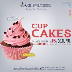 No querrás perderte de nuestra próxima clase demo. Ven y aprende a realizar deliciosos #cupcakes.