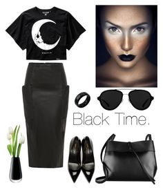 Thinking Black. by schenonek on Polyvore featuring polyvore, fashion, style, Yves Saint Laurent, Kara, Kevin Jewelers, 3.1 Phillip Lim, LSA International and clothing