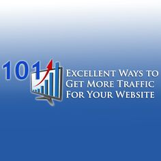 Check out this post and reveal 101 Excellent Ways to Get More Traffic For Your Website. CLICK here now to discover how to get more traffic NOW.