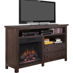 """Found it at Wayfair - Hidalgo 60"""" TV Stand with Electric Fireplace"""