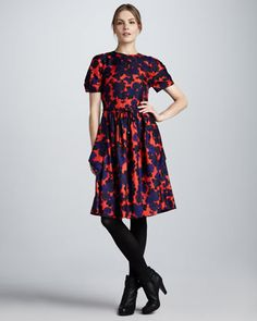 MARC by Marc Jacobs Onyx Floral Dress - Bergdorf Goodman