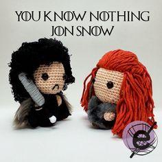 You know nothing Jon Snow #ygritte #jonsnow #gameofthrones #amigurumi #crochet
