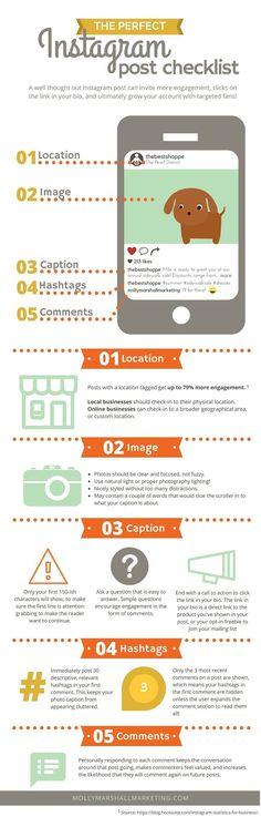 instagram checklist | instagram tips and tricks instagram cheatsheet