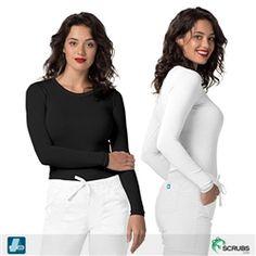 545dfc39387 Adar Medical 3402 - Pop-Stretch Women's Tonal Long Sleeve Fitted Tee at  Scrubs.