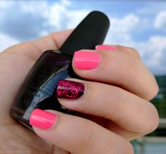 OPI Lincoln Park After Dark, Essie Pink Parka